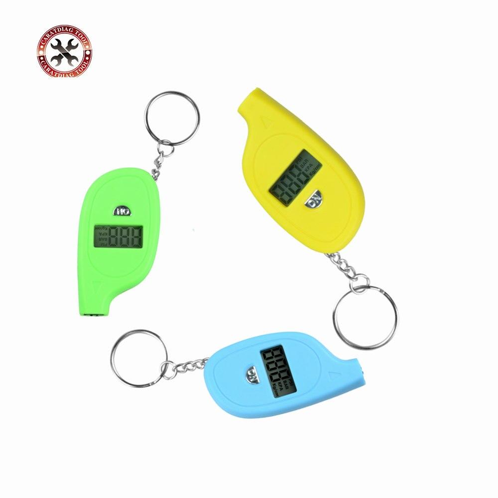 Professional Mini Digital LCD Tire Pressure Gauge Mini Handheld Keychain Design Tire Pressure Monitoring System