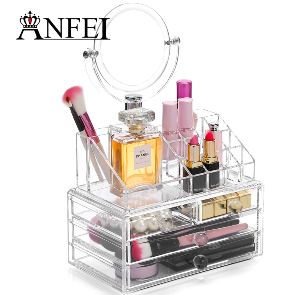 Anfei Makeup Organizer Storage Box Acrylic Make Up