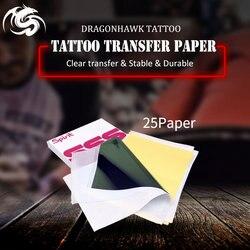 A parte superior 25 do papel carbono da transferência do estêncil da tatuagem pces a 4 fonte da tatuagem do tamanho ws011 * 25