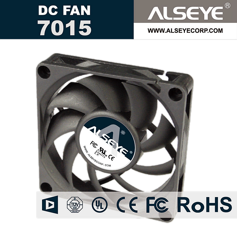 ALSEYE DC 12V Cooler 70mm Cooling Fan Hydraulic Bearing 3000RPM 0.15A Fan Cooling 70 x 70 x 15mm консилер make up factory make up factory ma120lwhds40