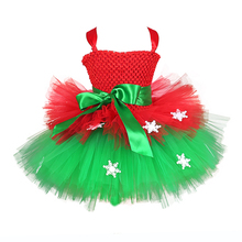 Green Red Summer Clothes for Girl 9 Years Christmas Dress Snowflake Girl Applique Knee Length Dress Child Cake Flower Tutu Dress fancy pink flower girl dress with appliques half sleeves knee length a line gown with ribbon bows for christmas 0 12 years old