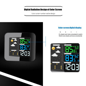 Image 3 - Digital Color Wireless Weather Station with Clear LCD Humidity Dual Alarms Thermometer ALI88