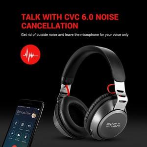 Image 5 - Eksa Bluetooth Không Dây 5.0 500 MAh Tai Nghe Có Dây Kèm Mic Điều Khiển Âm Lượng CVC6.0 Loại Bỏ Tiếng Ồn Trên Tai Dành Cho Điện Thoại