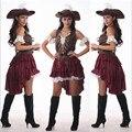 2016 Новый Сексуальные Женщины Пиратский Костюм Хэллоуин Необычные Партии Dress Carnival Perfor mance высокое качество Взрослых Пиратские костюмы для Косплея
