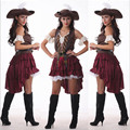 2016 nueva sexy mujeres traje de pirata de halloween party fancy dress carnival mance alta calidad adultos disfraces cosplay pirata