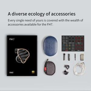 Image 5 - FIIO FH7 HIFI ב אוזן אוזניות חדש דגל 5 היברידי נהגים 4 נואלס BA + 13.6mm דינמי IEM עם MMCX להסרה כבל