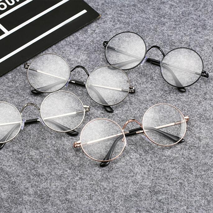 2019fashion show style glasses vintage sluneční brýle kulaté sluneční brýle Transparentní sluneční brýle