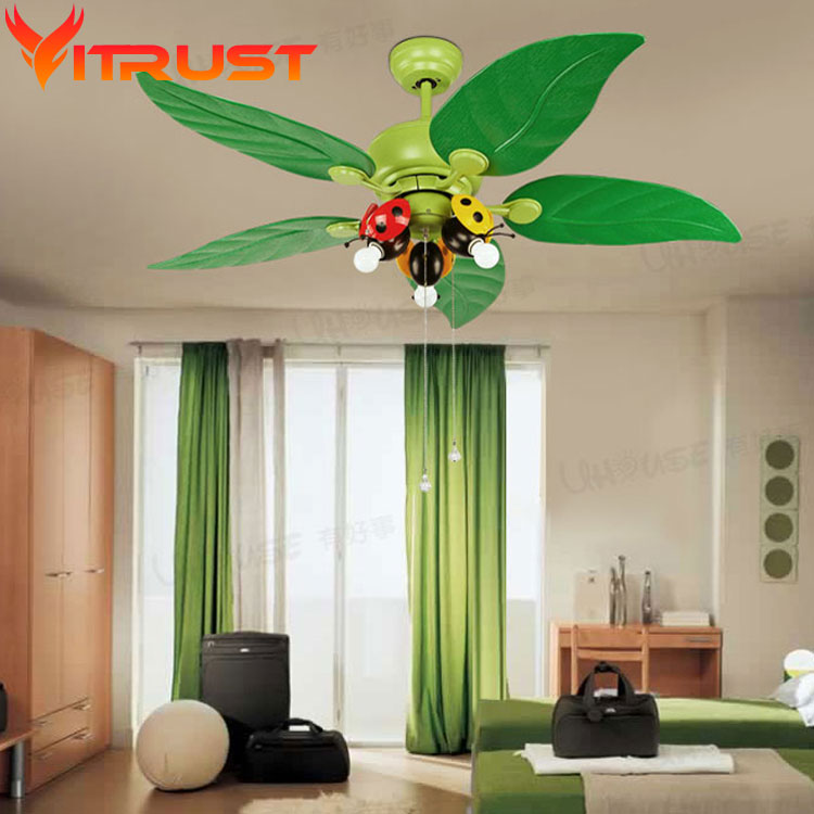 Decorative bedroom ceiling fan kids iron ceiling fans for for Lights for kids room