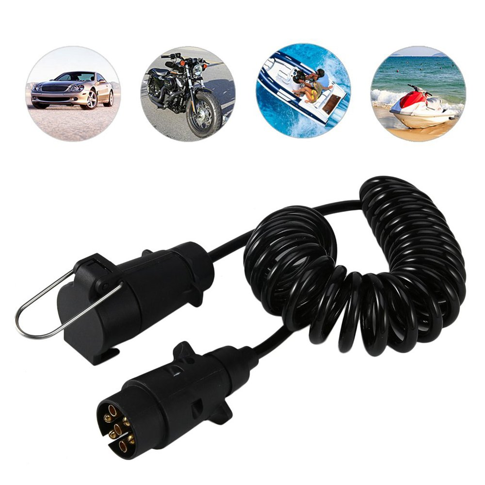 New 7 Pin Trailer Plug Round Connector Male And Female Rv Addition Wiring Harness Adapter On Car Converter With Cable 35 Meters For