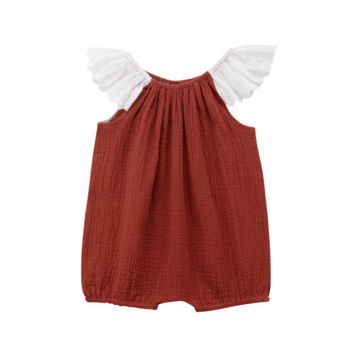 4ae911bb66f Infant Baby Girl Kids Lace Romper Jumpsuit Princess Clothing Top Toddler  Girls Summer Sleeveless Cotton Rompers Playsuit Clothes