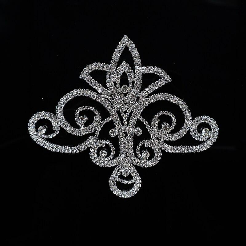 AINNY 1 unids 11.0 * 13.0 cm Flor Flatback Rhinestones de Cristal - Artes, artesanía y costura