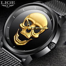 2018 New Man Watch Brand LIGE Men Fashion Quartz Watch Waterproof Casual Simple Trendy Mesh belt Black Sport Business Male Clock
