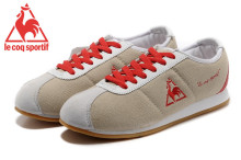 Le Coq Sportif Women's Running Shoes,High Quality Embroidery Logo Le Coq Sportif Athletic Shoes Sneakers Lt.Grey/Red Color 2
