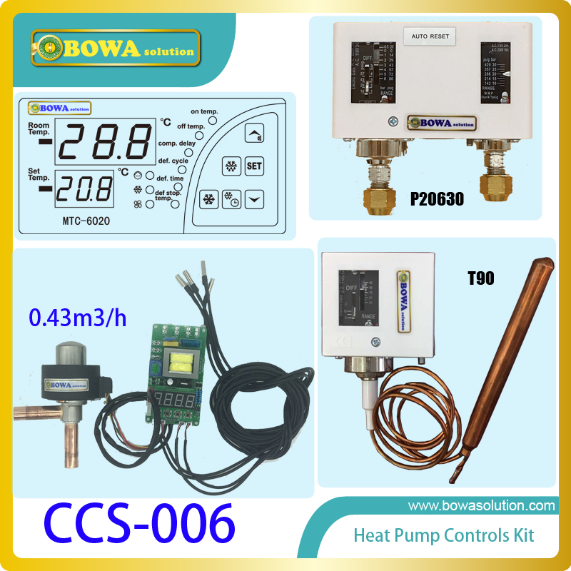 General and separated control kits suitable for kinds of air source heat pump water heater, simple operation & easy installation 6162 63 1015 sa6d170e 6d170 engine water pump for komatsu