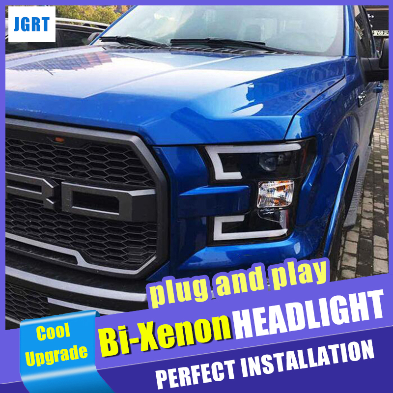 head lamp Car Styling for Ford Raptor F 150 Headlights 2016 2018 LED Headlight DRL Lens