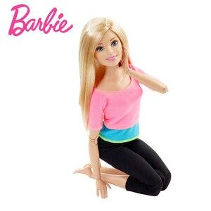 Image 4 - Барби авторизоваться бренд 7 Стильная обувь игрушки модные Куклы Йога Модель Игрушки для маленьких девочек подарок на день рождения Barbie Girl Boneca модель DHL81