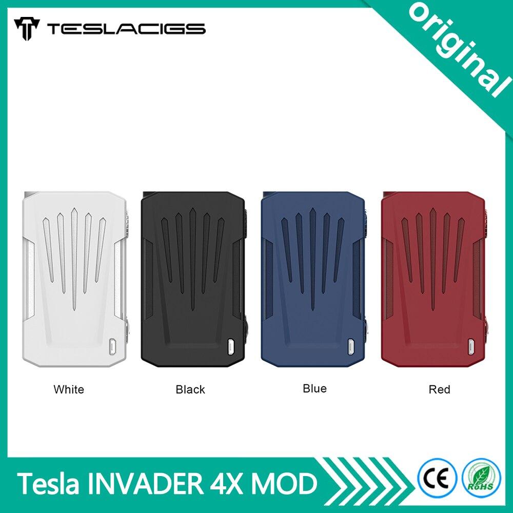 Original Tesla Invader 4X VV boîte MOD 280W indicateur LED Cigarette électronique Vape Mod vaporisateur Support double 18650 batterie-in Cigarette électronique Mods from Electronique    1