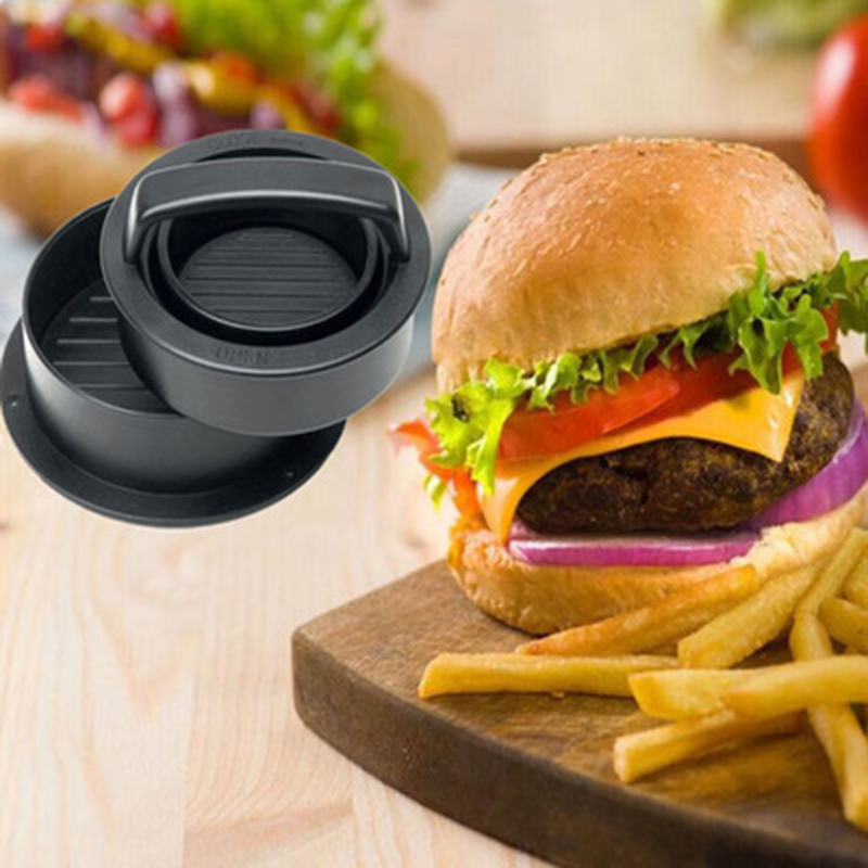 Manual Stuffed Meat Burger Press Non Stick Round Hamburger Mold Cutlets Patty DIY Burger Meat Press Tool Kitchen Gadgets in Manual Burger Press Machines from Home Garden