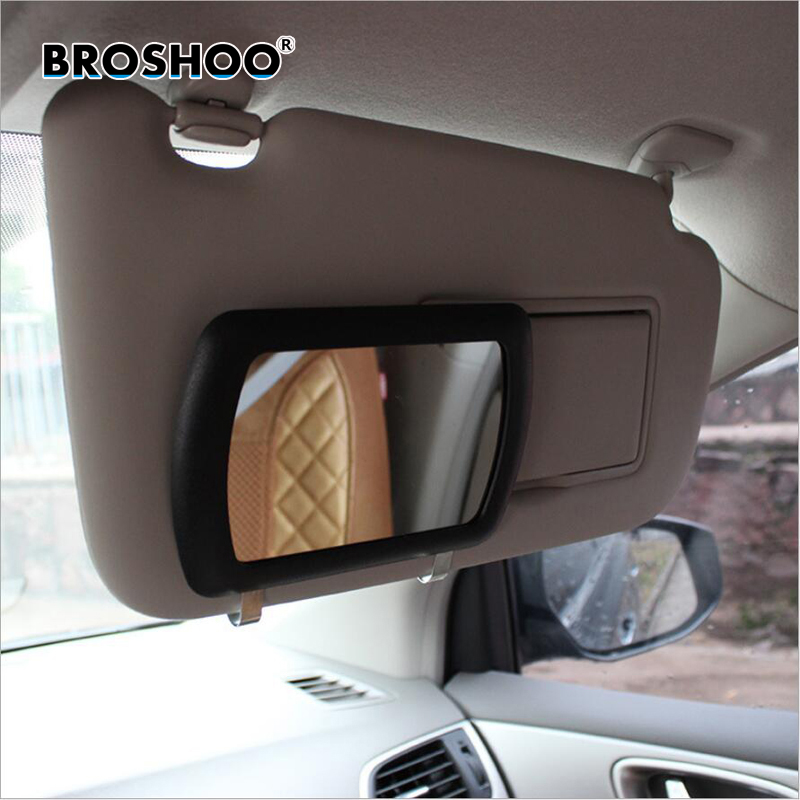 BROSHOO Car Styling Car Sun Shading Board Cosmetic Mirror Car Portable Cosmetic Mirror Automobile Cosmetic Mirror 16.9*11*1cm