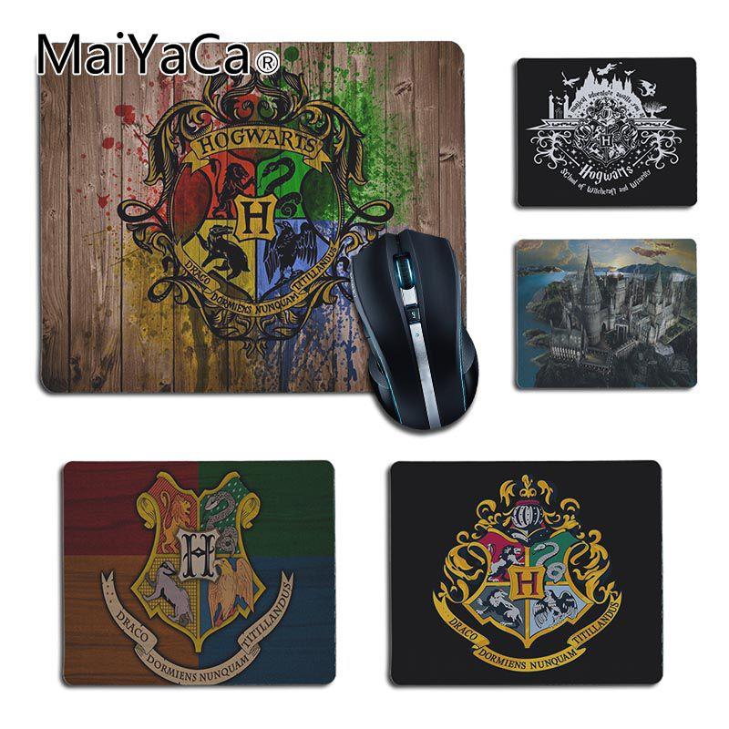 MaiYaCa Boy Gift Pad Harry Potter hogwarts Customized MousePads Computer Laptop Mouse Mat 2018 Hot Professional Gamer Mouse pad maiyaca marvel comics logo customized laptop gaming mouse pad size for 25x29cm gaming mousepads