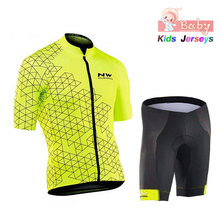 2019 Breathable Quick Dry Kids Mtb Cycling Jersey Set Pro Team Nw Children Bike Clothing Boys Summer Bicycle Wear Shorts