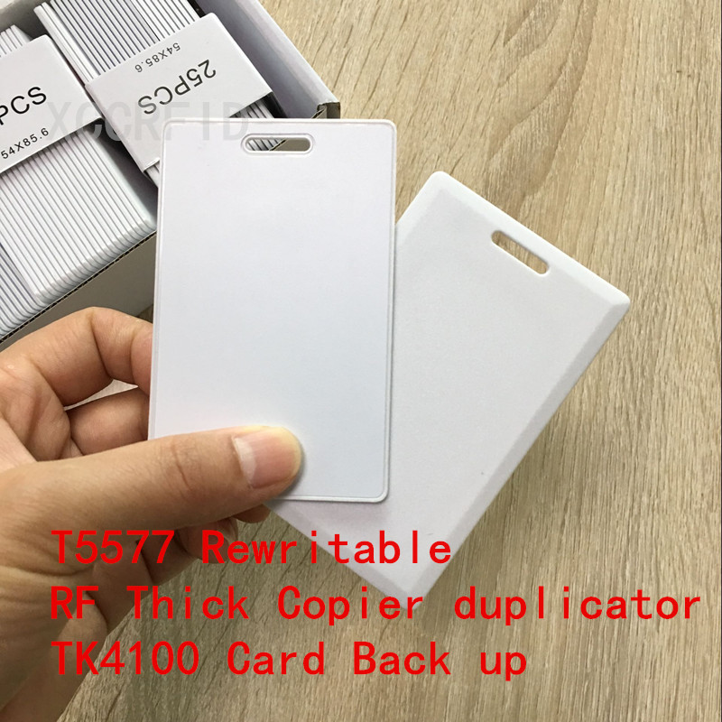 Writable Rewrite 125KHz Proximity RFID Thick RF Card with T5567/T5577/T5557 For Writer Copier duplicator Clone erasable