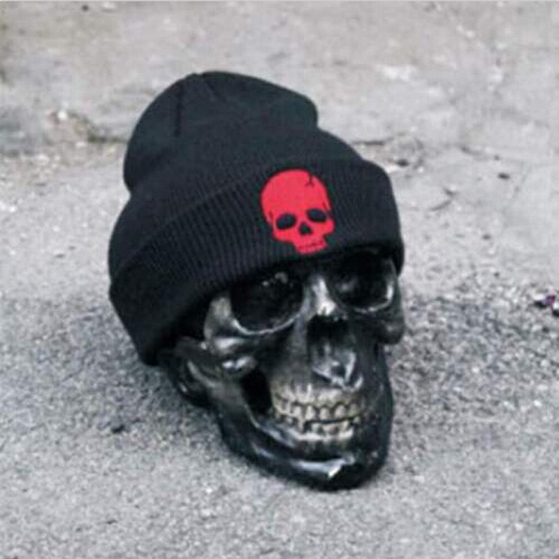 Men Women Hip-Hop Warm Autumn Winter Cotton Knit Ski Beanie Skull Cap Unisex Hat Red High Quality unisex cotton hip hop hat with ring warm beanie cap in winter women knitted hats men and women skullies