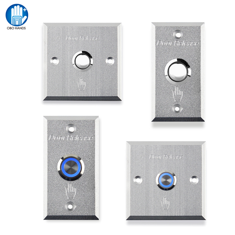 Touch Aluminum Alloy Door with Exit Push Button Door  To Access Control System alloy cover touch door exit for door access control system