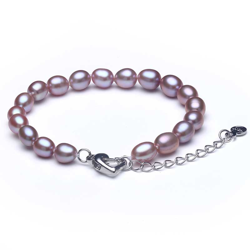 2019 Hot 925 Sterling Silver Natural Freshwater Pearl Strand Armband - Fina smycken - Foto 4