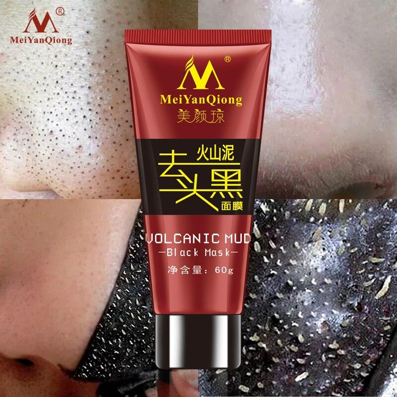 2018 máscara negra de barro volcánico para el cuidado de la cara tratamiento de eliminación de espinillas de acné blanqueamiento mascarilla hidratante antiedad crema - 2