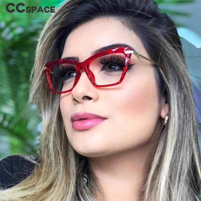 45821 Plastic Titanium Diamonds Crystal Galsses Frame Anti-blue Light Optician Women Fashion Glasses