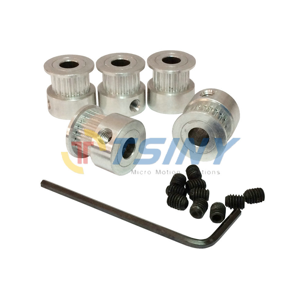 Htd 3d Printer Accessories Gt2 Timing Belt Pulley Types Of Pulleys Idler Bore 5mm 6mm Fit For Width Pack 5pcs In From Home