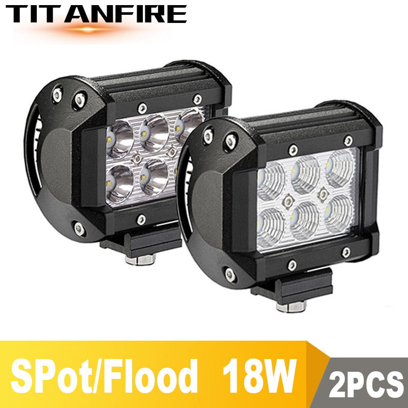 TF30 Car Led Light Bar 18W Work Light 4inch 12V 4000LM LED Motorcycle Truck 6inch Off Road 4x4 4WD SUV ATV 6500K image