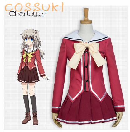 Newest Free Shipping Charlotte Nao Tomori School Uniform Cosplay Costume,perfect Custom For You Comfortable And Easy To Wear