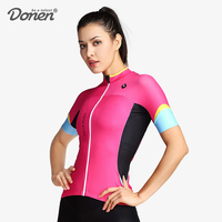 DONEN Summer Short Sleeve cycling Jersey Women MTB Bike Clothing Breathable Bicycle Clothes Ropa Ciclismo Girls Cycling Jersey