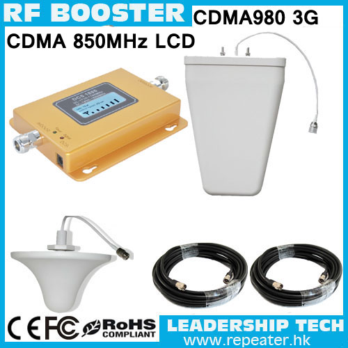 RF CDMA800 850MHZ 3G LCD Display Cellular Mobile/cell Phone Signal Repeater Booster Amplifier Detector Indoor Outdoor Antenna