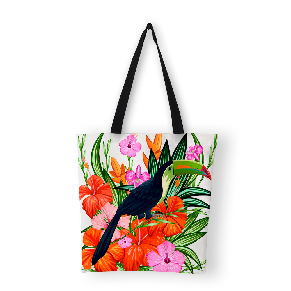 Womens Shoulder Beach Bag Large Summer Flamingo Tote Shopping Travel Reusable