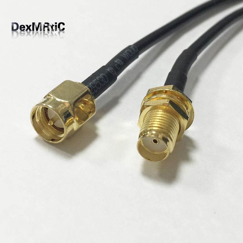 """New Sma-stecker Schalter Sma-buchse mutter zopf rg174 Großhandel 20 CM 8 """"WIFI Adapter"""