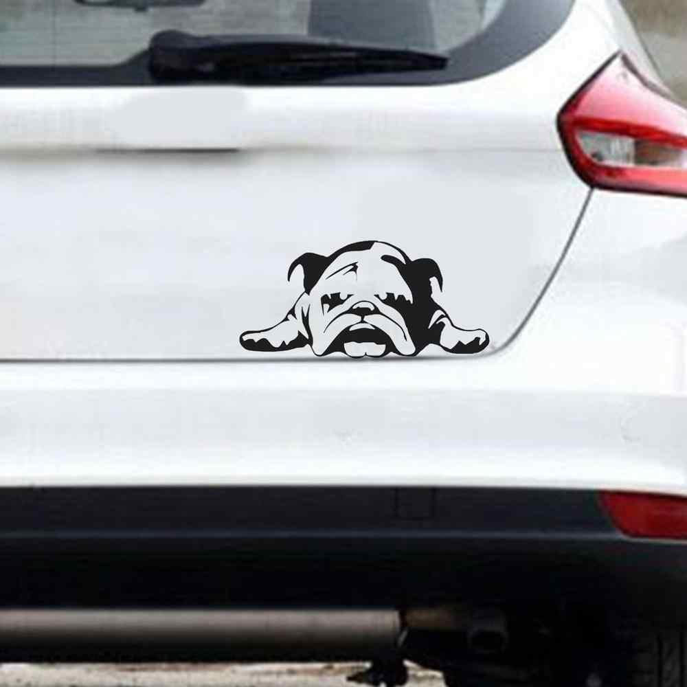 Анти наклейка с надписью Автомобиль Стайлинг Наклейка на автомобиль Английский бульдог уставший щенок собака украшения на заказ