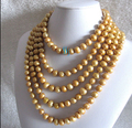 """RHJ0007 100"""" Champagne Freshwater Pearl Necklace"""