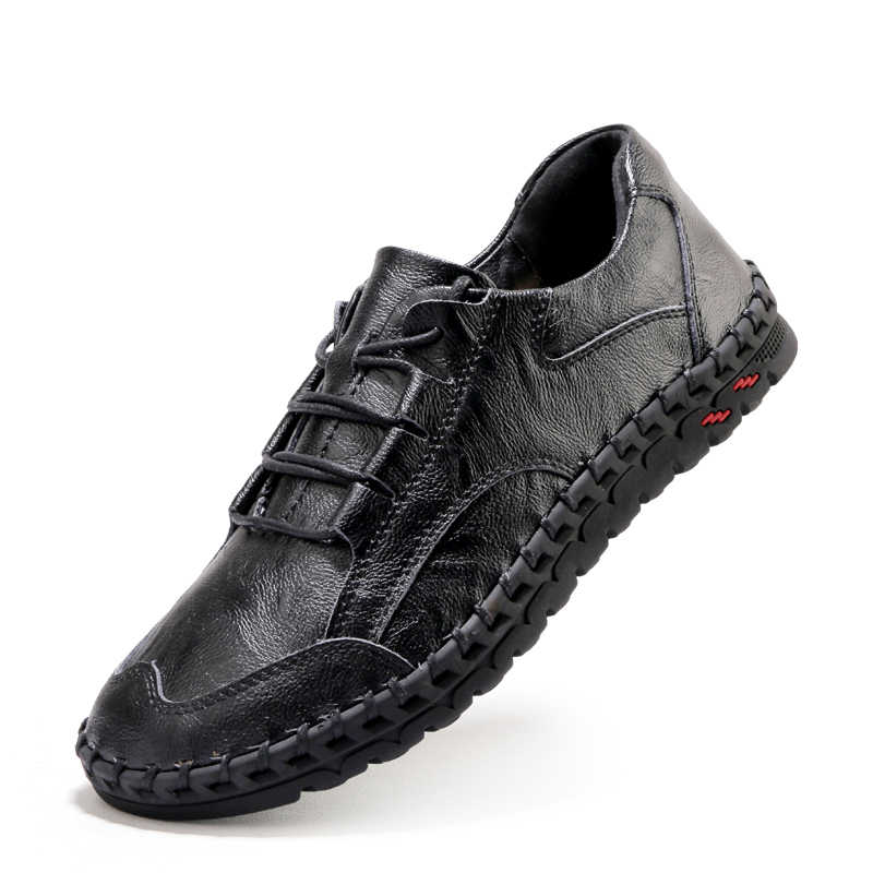 גברים עור סניקרס עיצוב מותג גברים נעליים יומיומיות אמיתי עור מוקסין סירת הליכה נעל שטוח אוקספורד גברים נעליים חדשות