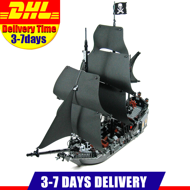 In Stock LEPIN 16006 DHL Free 2018 804PCS Pirates Ship The Black Pearl Ship Building Model Block Bricks Set Toys Clone 4184 waz compatible legoe pirates of the caribbean 4184 lepin 16006 804pcs the black pearl building blocks bricks toys for children