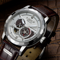 NESUN Men Creative Automatic Tourbillon Mechanical Wristwatches Waterproof Business Dress Watches Clock Male Relogio Masculino