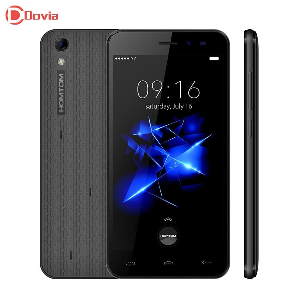 Homtom ht16 pro 5.0 pulgadas 4g smartphone android 6.0 mtk6737 quad Core 2 GB RA