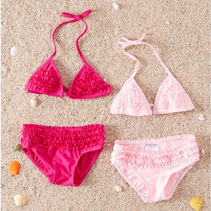 E388 Hot Dívčí dívky Split plavky set Kojenci a malé děti - Oblečení pro miminka