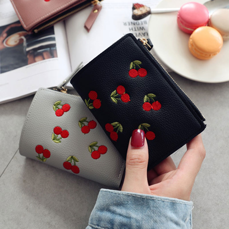 Women Cherry Buckle Coin Purses Mini Size Wallet