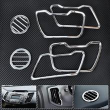 CITALL 6X Chrome салона Кондиционер vent отделкой воздуха на выходе Обложка для Kia Sportage R 2011 2012 2014 2013 2015 2 BTN только