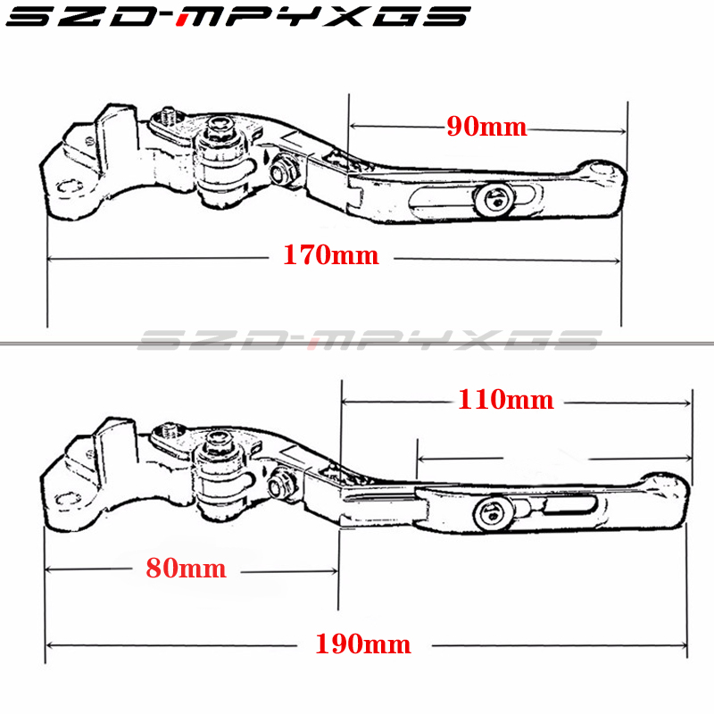 Motorcycle Adjustable Folding Extendable Brake Clutch Levers For YAMAHA MT 09 MT09 Tracer 2014 2015 in Covers Ornamental Mouldings from Automobiles Motorcycles