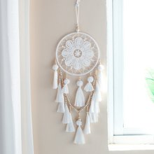 1 Pcs Handmade Mimpi Penangkap Dreamcatcher Indian Style Woven Wall Hanging Dekorasi Putih Pesta Pernikahan Hanging Decor(China)