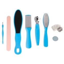 8 sztuk/zestaw profesjonalne narzędzia do pedicure złuszczający zapobiegaj martwa skóra zestaw do manicure dla skóra stóp opieki|Elektroniczne pilniki do stóp|   -